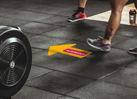 Routebegeleiding stickers