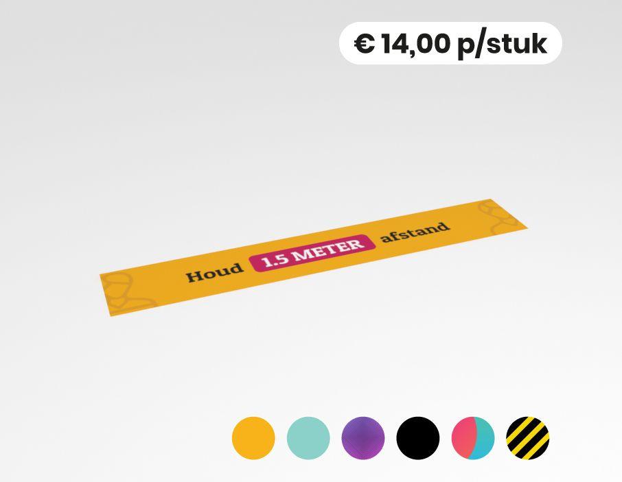 Houd 1,5 meter afstand - Vloervinyl - 150x25cm