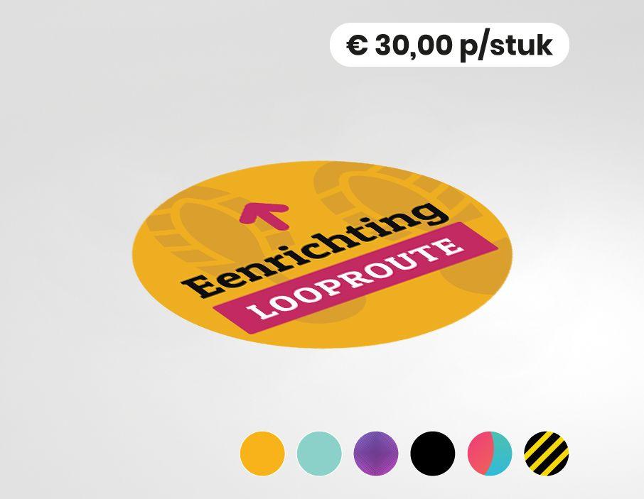 Route begeleiding vloervinyl sticker - rond 100cm