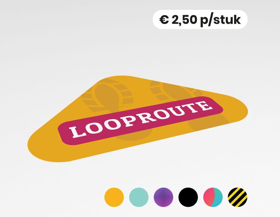 Looproute - Vloersticker -  40x25cm (10 stuks)