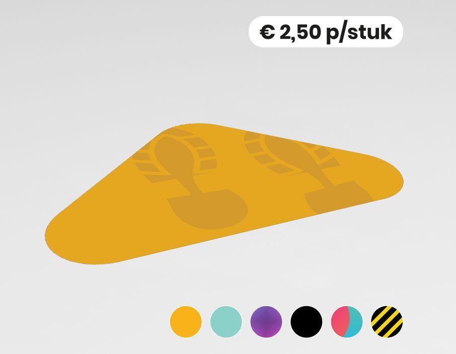 Pijl blanco - Vloersticker - 40x25cm (10 stuks)