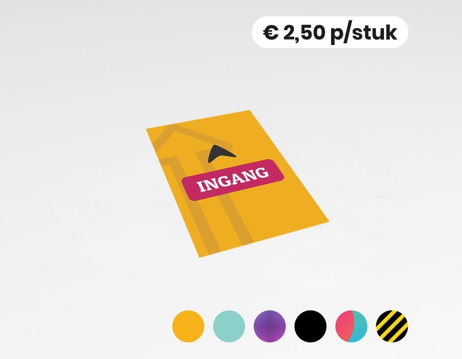Ingang - Sticker - 20x30cm  (per 10 stuks)