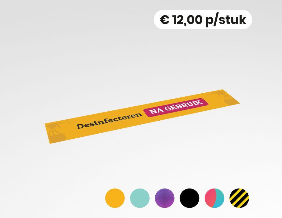 Desinfecteren na gebruik - Vloersticker - 150x25cm