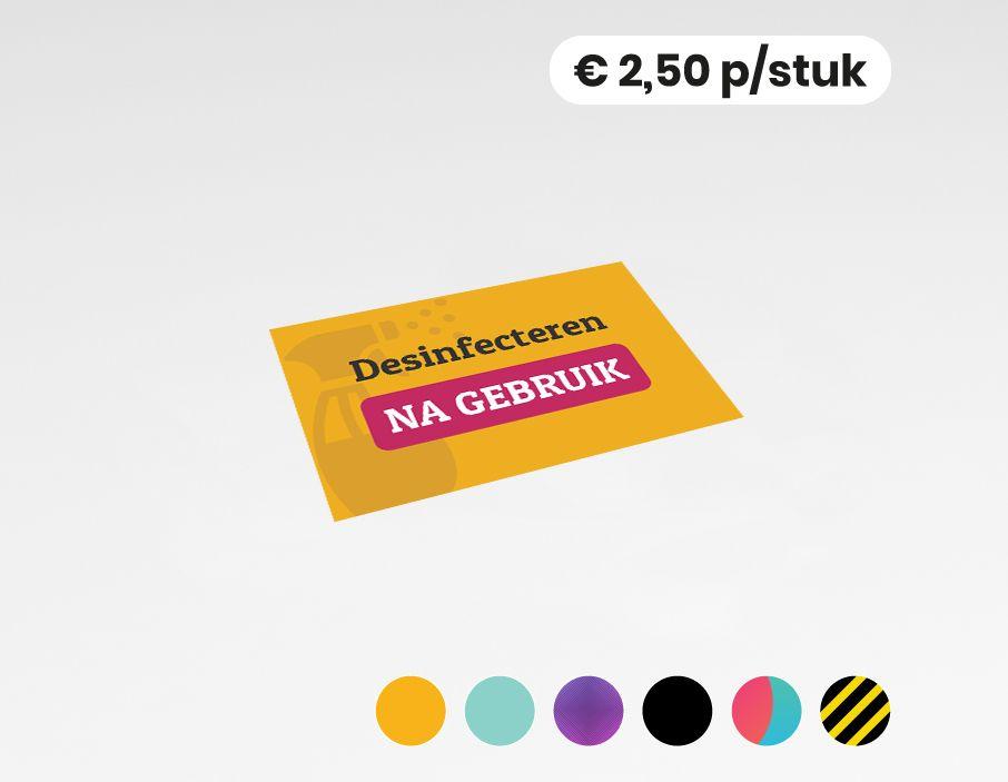 Desinfecteren na gebruik - Vloersticker - 20x30cm (10 stuks)