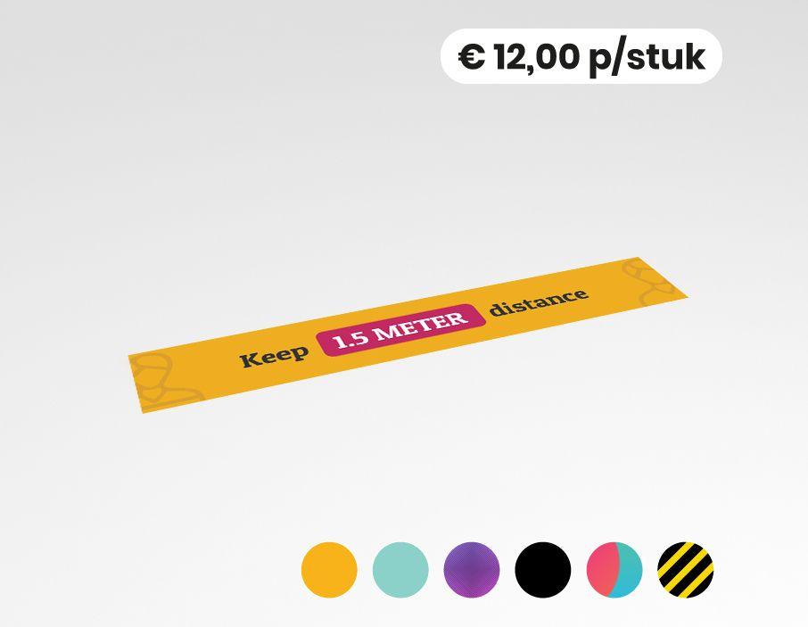 Keep 1,5 meter distance - Vloersticker - 150x25cm