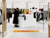 Keep 1,5 meter distance - Vloersticker - 150x25cm  afbeelding 1