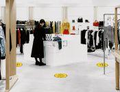 Keep 1,5 meter distance - Vloerticker - 25cm rond (10 stuks)  afbeelding 1