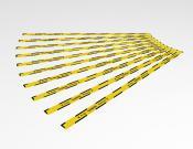 Keep 1,5 meter distance - Vloersticker - 150x5cm (10 stuks) - Kleur: Caution