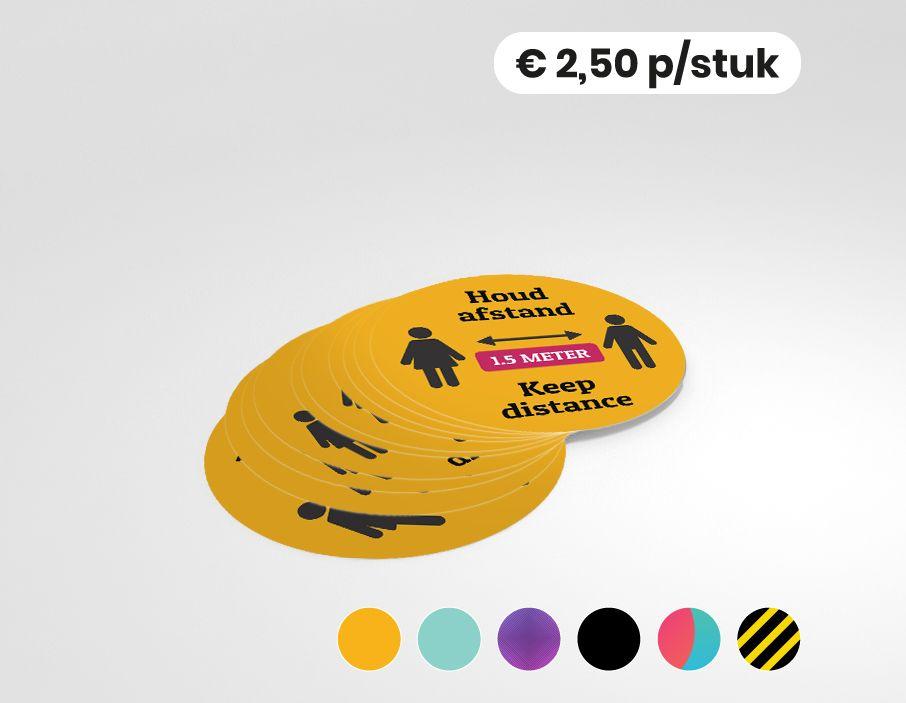 Houd afstand - Keep distance - Multi-language - Sticker- 25cm (10 stuks)