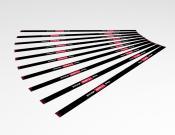 Houd 1,5 meter afstand - Twee richtingen - Vloersticker - 150x5cm (10 stuks) - Kleur: Black