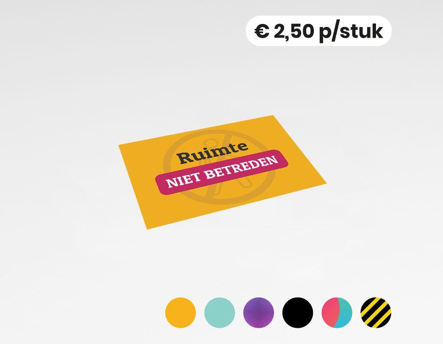 Ruimte niet betreden - Sticker - 20x30  (10 stuks)