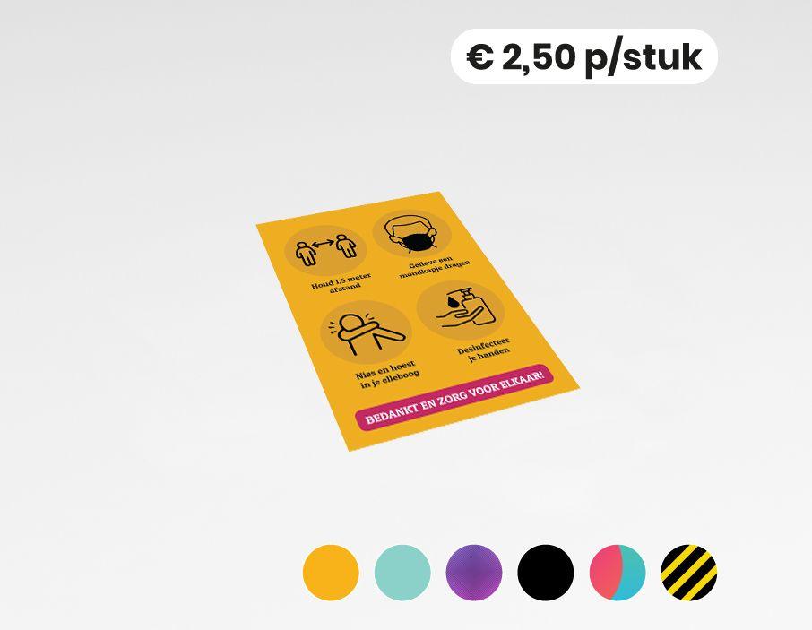 COVID-19 maatregelen - Sticker - 20x30 cm (10 stuks)