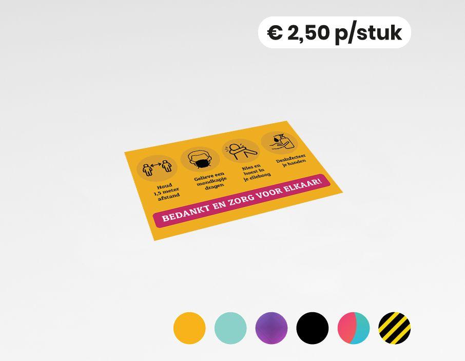 COVID-19 maatregelen - Sticker - 30x20 cm (10 stuks)