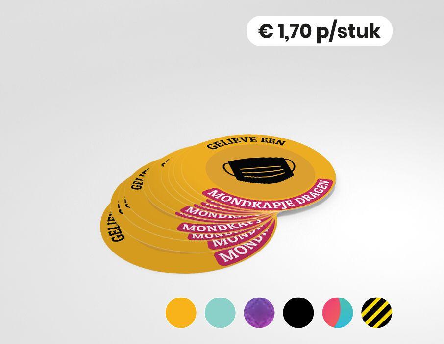 Gelieve een mondkapje dragen - Sticker - 25cm rond (10 stuks)