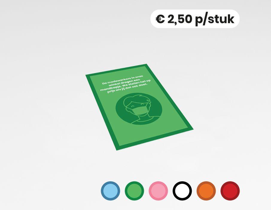 Mondkapje advies - Sticker -  20x30cm (10 stuks)