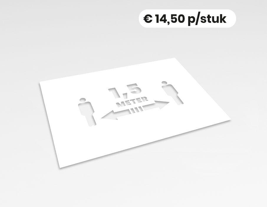 Anderhalve meter poppetjes - Spuitsjabloon - 58x40 cm