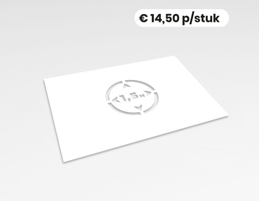 Anderhalve meter - Spuitsjabloon - 58x40 cm