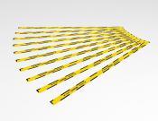 Houd 1,5 meter afstand - Vloersticker - 150x5cm (10 stuks) - Kleur: Caution