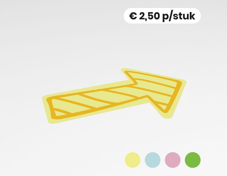 Vloersticker pijl 20x30cm school (10 stuks)